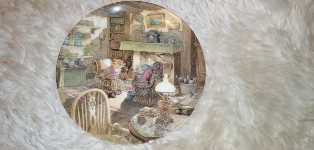 Wind in the Willows Fireside Tales Collectable Plate