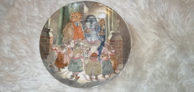 Wind in the Willows Carol Singers Collectable Plate #Wedgewood