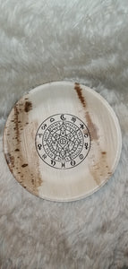Wiccan Protection Symbol Palm Leaf Bowl