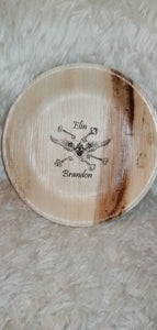 personalised palm leaf bowl