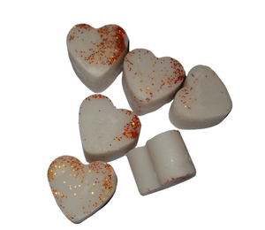Rich Leather & Patchouli SOY WAX MELTS TARTS LOVE HEARTS