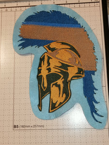 Spartan Soldier Helmet Punk Iron On Patch Extra Large #Punk