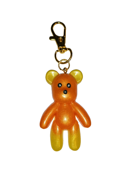 Teddy Bear Yellow and Orange Keyring