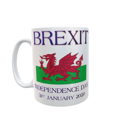 Independence Day Brexit Wales Mug Tea Coffee Mugs #Brexit #IndependenceDay #GetBrexitDone