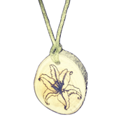 Lily flower Necklace Pendant Wooden Charm Natural Necklace Earrings Keyring Charms #Lily
