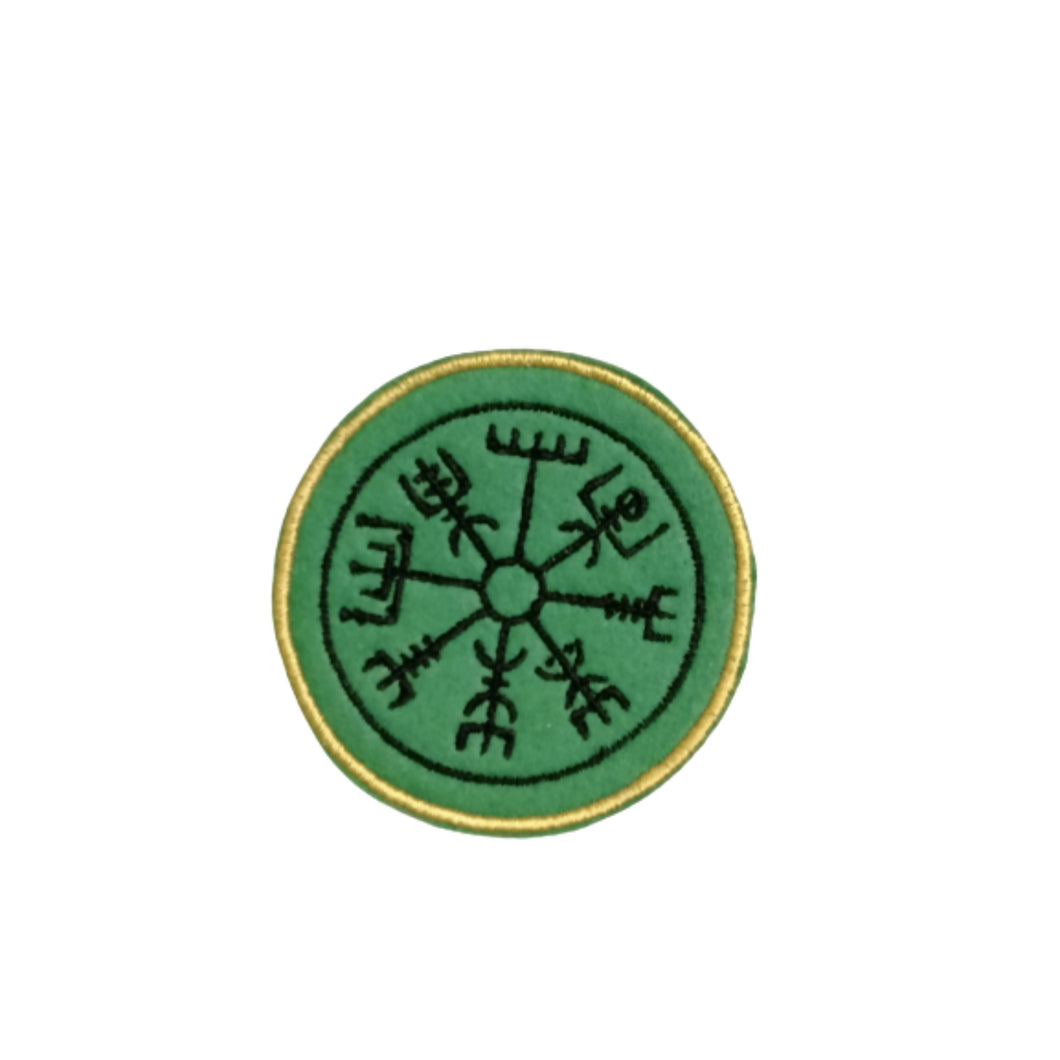 Vegvisir Nordic Compass Viking Rune Patch by Retrosheep