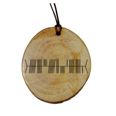 Your Name Engraved Ogham Old Irish Rune Personalised Wood Necklace