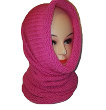 Cowl Scarf Handmade All in One Double Knit Retro Scarves #Scarf