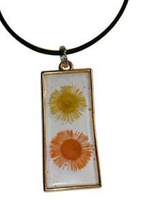Floral Pendant For Necklace Or Keyring