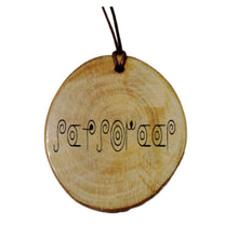 Your Name Engraved Pictish swirly Magick Rune Personalised Wood Necklace