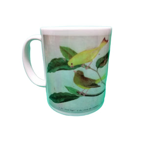 Canary Bird Mug Vintage Birds Illustration Tea Coffee Mugs Gift #Canary