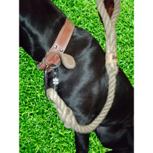 Personalised Natural Dog Lead for Large / Extra Large Dogs Handmade in Wales by Retrosheep