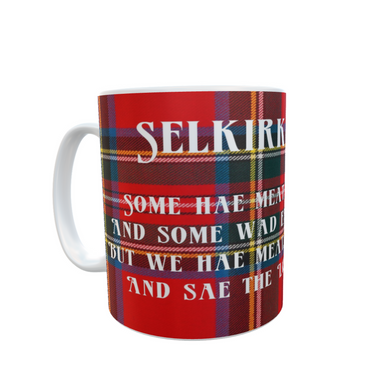 Burns Night Selkirk Grace Tartan Tea Coffee #BurnsNight