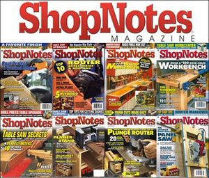 SHOPNOTES MAGAZINE COMPLETE SET 138 ISSUES WOODWORKING DIY PLANS TIPS DIAGRAMS 138 MAGAZINE ISSUES