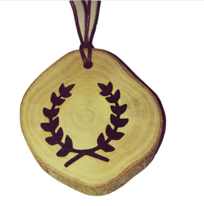 Hellenism Symbol choker Pendant Handmade Wooden Charm Natural Personalised Necklace Earrings Keyring Charms #Handmade