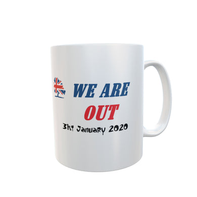 WE ARE OUT Mug 31st January 2020 Brexit Coffee Mug #Brexit #WeAreOut