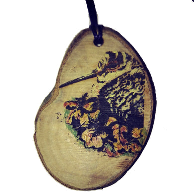 Hand Painted Woodcock Bird Necklace Pendant Handmade Wooden Charm Natural Personalised Necklace Earrings Keyring Charms #Woodcock