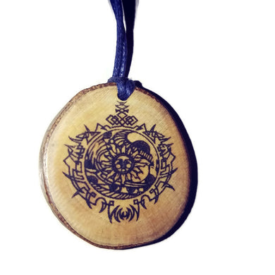 Solar Celestial Symbol Planet Necklace Pendant Wooden Charm Natural Necklace Earrings Keyring Charms #Celestial
