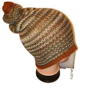 Copper Cream Mix  Thick Retro Bobble Hat Bespoke Handmade  #Bobblehat