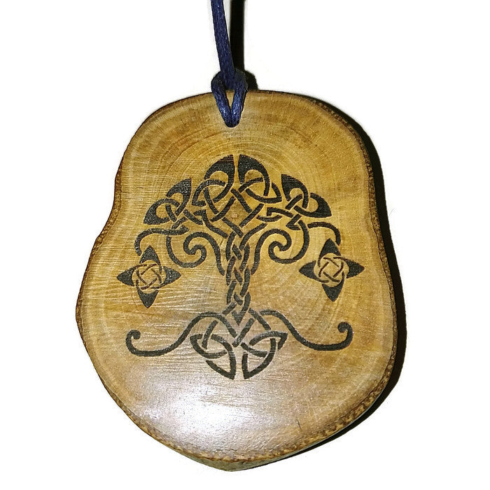Tree of Life Yggdrasil  Necklace Pendant Wooden Charm Natural Necklace Earrings Keyring Charms #TreeofLife #Yggdrasil