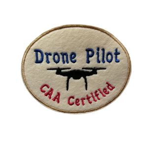 Drone Pilot UAV CAA Certified Patch by Retrosheep.com