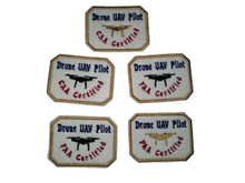 Gold Drone Pilot FAA CAA Certified Patch UAV Pilots Patches small