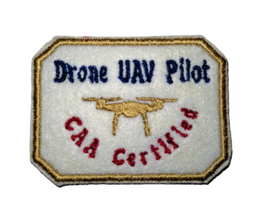 Drone UAV Pilot CAA Certified Gold Drone Patch by retrosheep.com