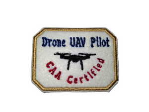 Drone UAV Pilot CAA Certified Black Drone Patch by retrosheep.com