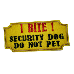 I Bite Do Not Pet Dog Harness Patch