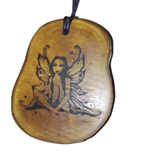 Fairy Mythical Being Necklace Pendant Wooden Charm Natural Necklace Earrings Keyring Charms #Fairy