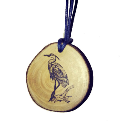 Heron Bird Necklace Pendant Handmade Wooden Charm Natural Personalised Necklace Earrings Keyring Charms #Heron