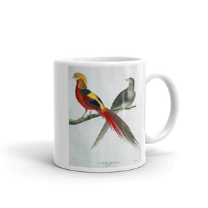 Chinese Golden Pheasant Bird Mug Vintage Birds Illustration Tea Coffee Mugs Gift #Pheasant