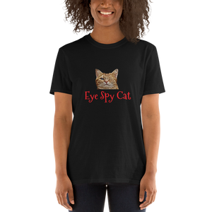 Eye Spy Cat Tee Funny Joke Short-Sleeve Unisex T-Shirt #Cat