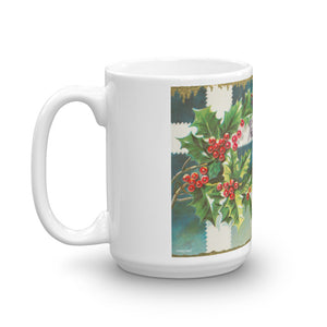 Merry Christmas Mug Tea Coffee  Vintage Mugs #Christmas