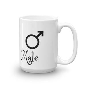 Male Mug Mens Gender Sex symbol Tea Coffee Mugs #male