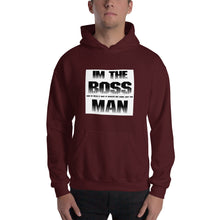 "Funny Mens Hoodie "" Im the Boss "" Joke Funny Quote  Hooded Sweatshirt #Hoodie"