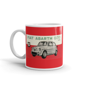 Fiat Abarth Mug 850cc Classic Car Vintage Tea Coffee Mugs #Fiat