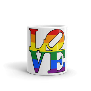 LGBT LOVE Mug Rainbow Art Tea Coffee Mugs #LGBT #GayPride