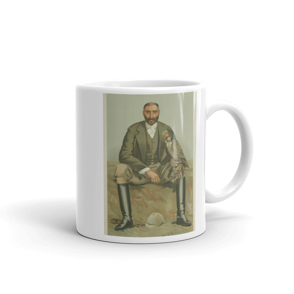 Falconry Mug Vintage Vanity Fair Illustration Tea Coffee Mugs #Falconry