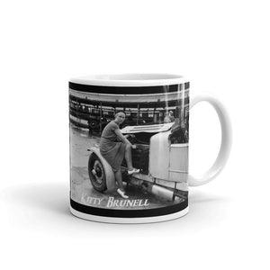 Kitty Brunell Mug Vintage Womens Rally Car Mugs #WomensRally