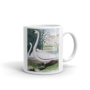 swan Mug Vintage Bird Illustration Tea Coffee Mugs Gift #swan