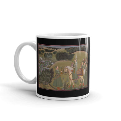 Akbar's Court Mug Vintage Illustration Hunting Scene Tea Coffee Mugs #Hunting