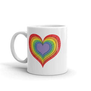 LGBT Love Heart Mug Rainbow  Art Tea Coffee Mugs #LGBT