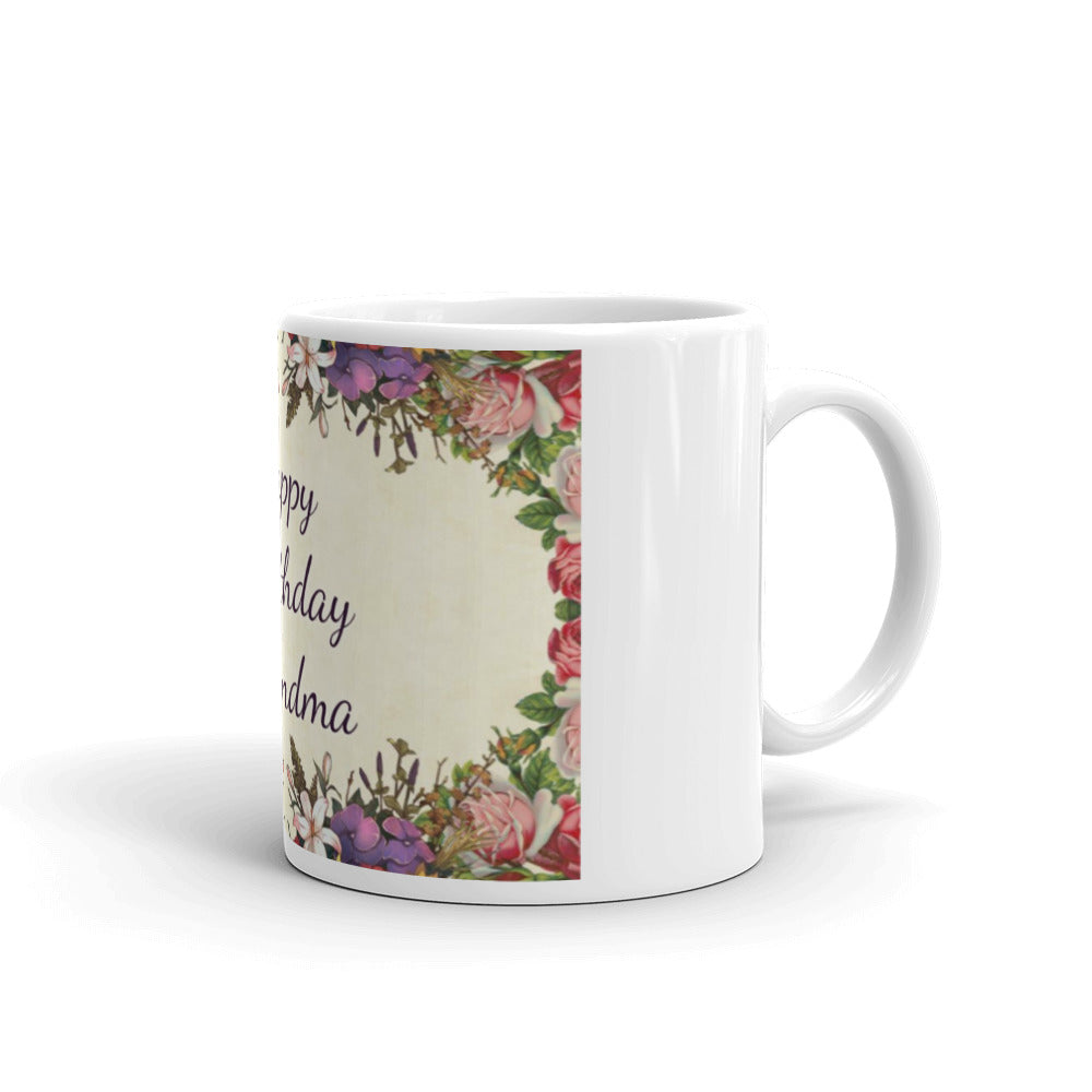 Happy Birthday Grandma Floral Mug #Grandma