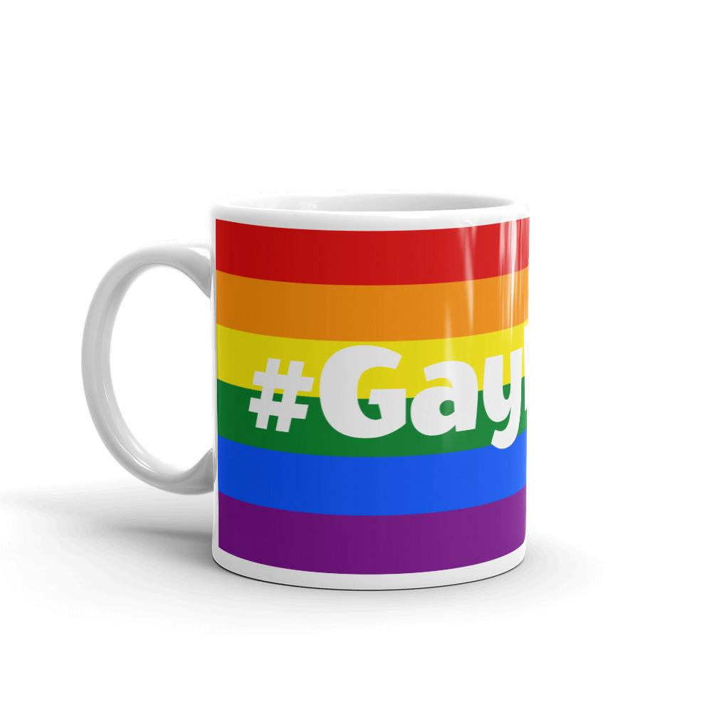 #GayPride Mug Rainbow LGBT LGBTQ Gay Pride Coffee Mugs #LGBT