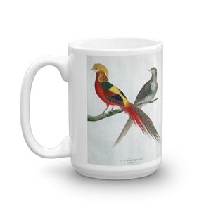 Golden Pheasant Bird Mug Vintage Birds Illustration Tea Coffee Mugs Gift #Pheasant