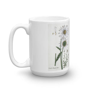Marguerite Daisy Mug Vintage Illustration Coffee Mugs #Daisy
