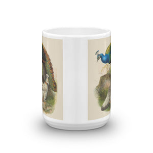 Black Shouldered Peafowl Mug Vintage Tea Coffee Mugs #Peafowl