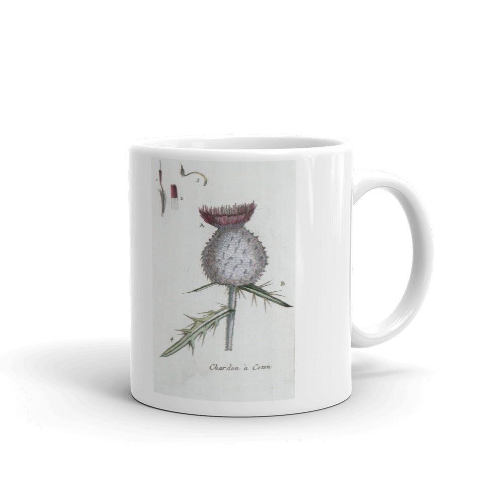 Cardoon Thistle Mug Artichoke Vintage Illustration Coffee Mugs #Thistle