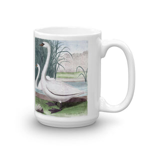 swan Mug Vintage Bird Illustration Tea Coffee Mugs Gift #swans